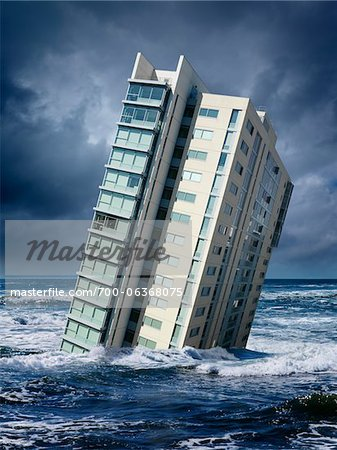 Highrise Floating in Ocean Stock Photo - Rights-Managed, Image code: 700-06368075
