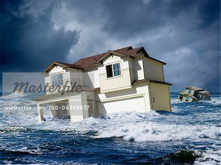 Houses Floating in Ocean Stock Photo - Rights-Managed, Image code: 700-06368077