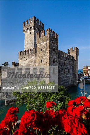 Scaliger Castle, Sirmione, Brescia, Lombardy, Italy Stock Photo - Rights-Managed, Image code: 700-06368183
