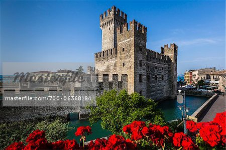 Scaliger Castle, Sirmione, Brescia, Lombardy, Italy Stock Photo - Rights-Managed, Image code: 700-06368184
