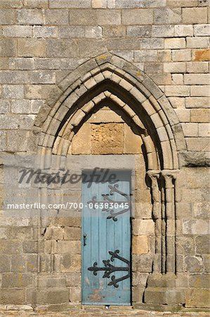 Close-Up of Door, Cathedrale Saint-Paul-Aurelien, Saint-Pol-de-Leon, Bretagne, France Stock Photo - Rights-Managed, Image code: 700-06383045