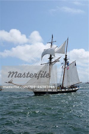 Tall Ship, Brest, Finistere, Bretagne, France Stock Photo - Rights-Managed, Image code: 700-06383065