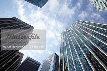 Low Angle View of Downtown Buildings, Vancouver, British Columbia, Canada Stock Photo - Rights-Managed, Image code: 700-06383089