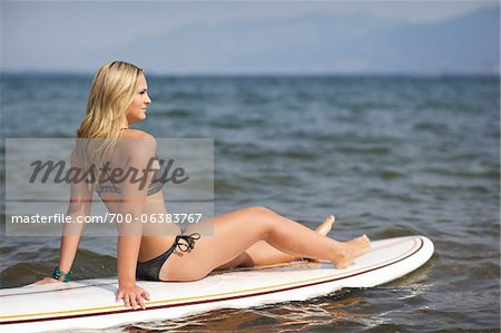 Surfer on Surfboard Stock Photo - Rights-Managed, Image code: 700-06383767