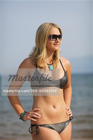 Young Woman on Beach Stock Photo - Rights-Managed, Image code: 700-06383769
