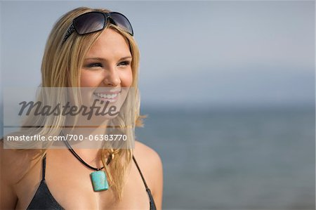 Portrait of Woman on Beach Stock Photo - Rights-Managed, Image code: 700-06383770