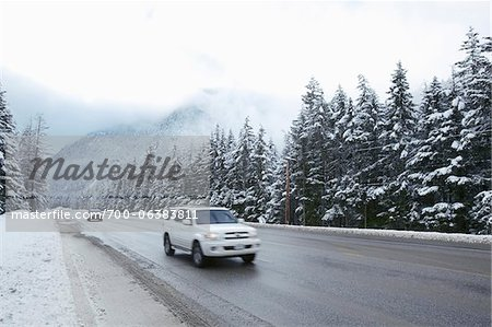 Cars on Highway in Manning Provincial Park, British Columbia, Canada Stock Photo - Rights-Managed, Image code: 700-06383811