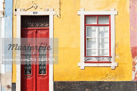 Close-Up of Brightly Painted Home, Algarve, Portugal Stock Photo - Rights-Managed, Image code: 700-06397576