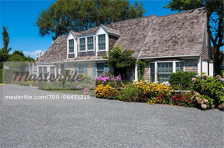 Exterior of House with Colorful Flower Garden, Provincetown, Cape Cod, Massachusetts, USA Stock Photo - Rights-Managed, Image code: 700-06431219