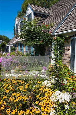 House with Colorful Flower Garden, Provincetown, Cape Cod, Massachusetts, USA Stock Photo - Rights-Managed, Image code: 700-06431221