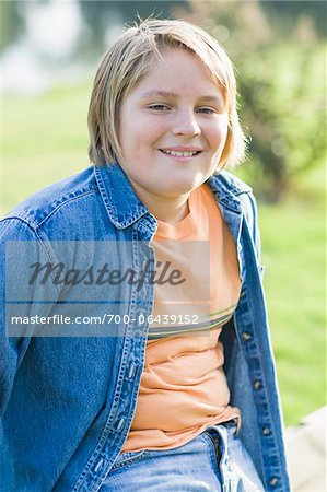 Portrait of Boy Outdoors Stock Photo - Rights-Managed, Image code: 700-06439152