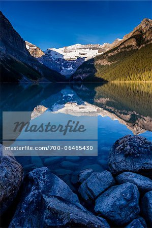 Lake Louise at Dawn, Banff National Park, Alberta, Canada Stock Photo - Rights-Managed, Image code: 700-06465430