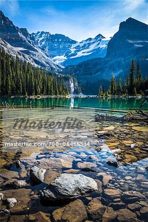 Rocky Shore of Alpine Lake, Lake O'Hara, Yoho National Park, British Columbia, Canada Stock Photo - Rights-Managed, Image code: 700-06465514