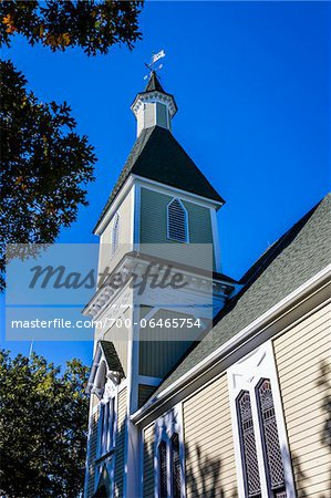 Low Angle of Trinity United Methodist Church, Camp Meeting Association Historical Area, Oak Bluffs, Martha's Vineyard, Massachusetts, USA Stock Photo - Rights-Managed, Image code: 700-06465754