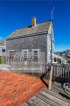 Wood Shingle Cottage at Waterfront, Edgartown, Dukes County, Martha's Vineyard, Massachusetts, USA Stock Photo - Rights-Managed, Image code: 700-06465781