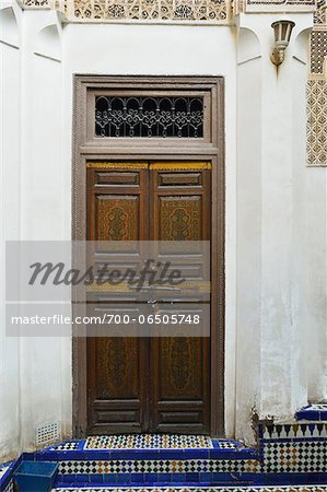 Decorative Wooden Door, Bahia Palace, Medina, Marrakesh, Morocco, Africa Stock Photo - Rights-Managed, Image code: 700-06505748
