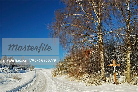 Roadside Crucifix in Winter, near Villingen-Schwenningen, Schwarzwald-Baar, Baden-Wuerttemberg, Germany Stock Photo - Rights-Managed, Image code: 700-06505779