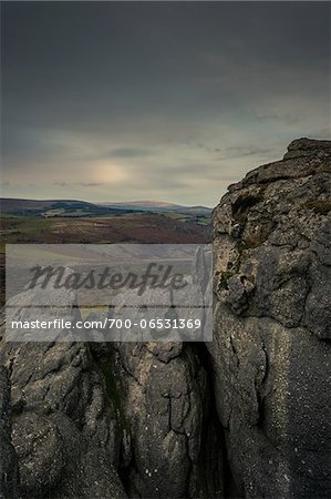 View of Moor with Dark Clouds Overhead, from Haytor, Dartmoor, Devon, UK Stock Photo - Rights-Managed, Image code: 700-06531369