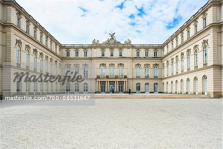 View of Courtyard of New Herrenworth Palace, Herrenchiemsee, Herreninsel, Chiemsee, Oberbayern, Bavaria, Germany Stock Photo - Rights-Managed, Image code: 700-06531647
