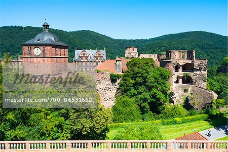 Heidelberg Castle Ruins, Heidelberg, Baden-Wurttemberg, Germany Stock Photo - Rights-Managed, Image code: 700-06531662