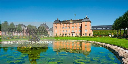 Pond on Grounds of Schwetzingen Castle, Baden-Wurttemberg, Germany Stock Photo - Rights-Managed, Image code: 700-06553349