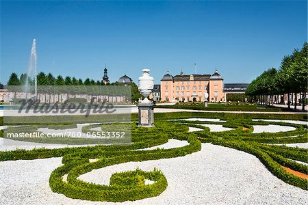 Landscaped Garden at Schwetzingen Castle, Baden-Wurttemberg, Germany Stock Photo - Rights-Managed, Image code: 700-06553352
