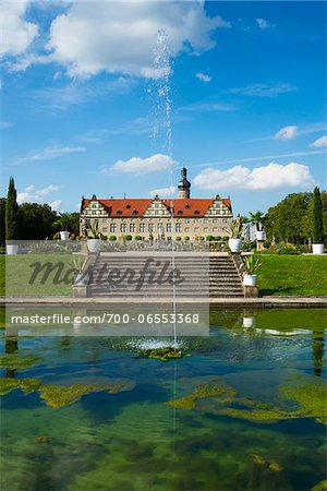 Water Fountain in front of Weikersheim Castle, Weikersheim, Baden-Wurttemberg, Germany Stock Photo - Rights-Managed, Image code: 700-06553368