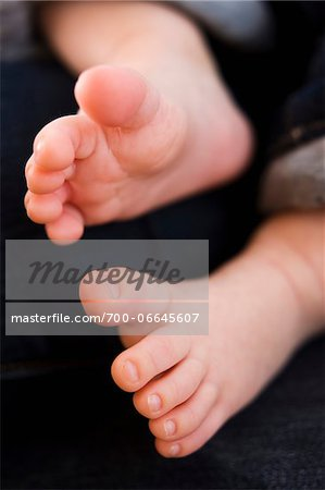 Close Up of Three Month Old Baby's Feet. Stock Photo - Rights-Managed, Image code: 700-06645607
