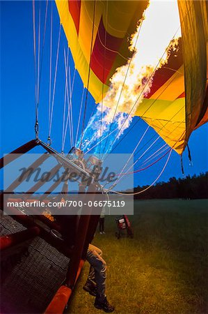 Inflating a hot air balloon near Pokolbin, Hunter Valley, New South Wales, Australia Stock Photo - Rights-Managed, Image code: 700-06675119