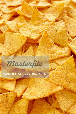 Close-Up of Tortilla Chips (full frame) Stock Photo - Rights-Managed, Image code: 700-06714075