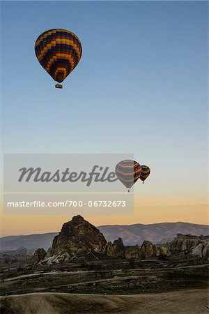 Turkey, Central Anatolia, Cappadocia, Goreme, Hot Air Balloon Tour Stock Photo - Rights-Managed, Image code: 700-06732673
