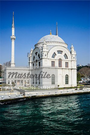 Turkey, Marmara, Istanbul, Dolmabahce Mosque by the Bosphorus Stock Photo - Rights-Managed, Image code: 700-06732677