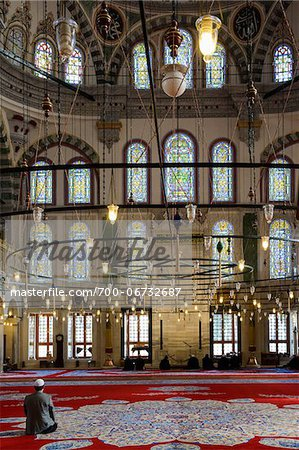 Turkey, Marmara, Istanbul, Interior of Fatih Mosque Stock Photo - Rights-Managed, Image code: 700-06732687
