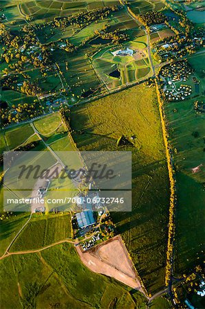 Aerial view of wine country near Pokolbin, Hunter Valley, New South Wales, Australia Stock Photo - Rights-Managed, Image code: 700-06732746