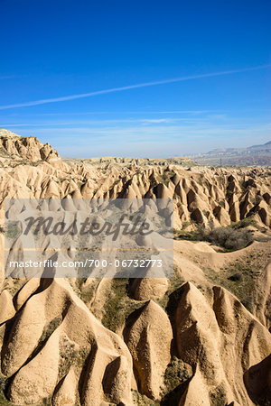 Turkey, Central Anatolia, Cappadocia, Overview of Rock Formations Stock Photo - Rights-Managed, Image code: 700-06732773