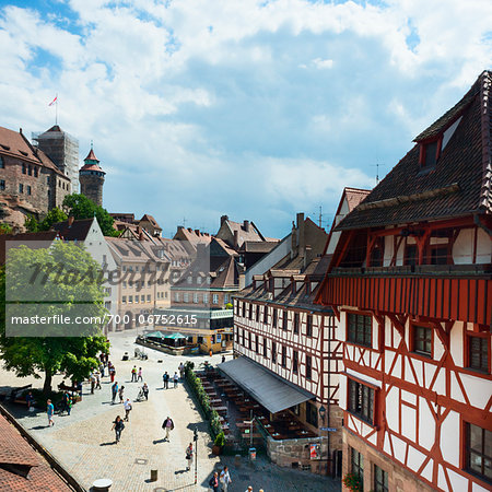 Germany, Bavaria, Middle Franconia, Mittelfranken, Nuremberg, Nürnberg, Platz Am Tiergärtnertor Stock Photo - Rights-Managed, Image code: 700-06752615