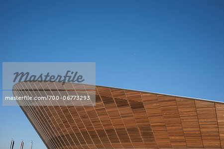 Close-Up of Cycling Velodrome built for London 2012 Summer Olympics, Stratford, East London, UK Stock Photo - Rights-Managed, Image code: 700-06773293