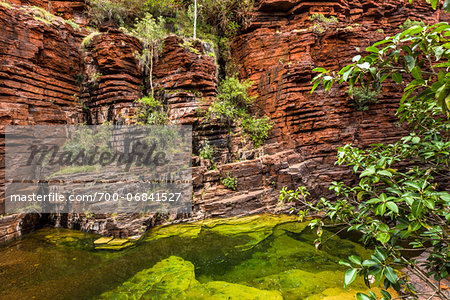 Joffre Gorge, Karijini National Park, The Pilbara, Western Australia, Australia Stock Photo - Rights-Managed, Image code: 700-06841527