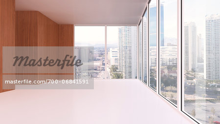 3d-illustration of an empty office in urban area Stock Photo - Rights-Managed, Image code: 700-06841591