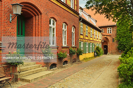 Scene in historic old town of Stralsund, Mecklenburg-Vorpommern, Germany, Europe Stock Photo - Rights-Managed, Image code: 700-06894781