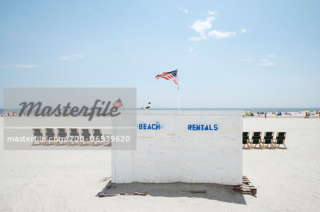 View of the beach, Atlantic City, New Jersey, USA Stock Photo - Rights-Managed, Image code: 700-06939620