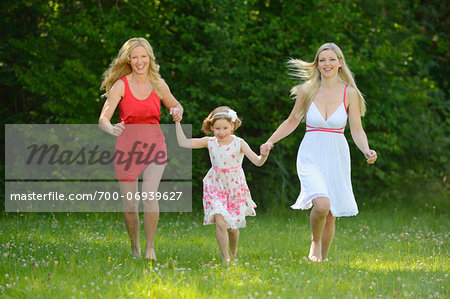 Woman with her daughter and her mother in summer, Bavaria, Germany. Stock Photo - Rights-Managed, Image code: 700-06939627
