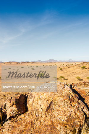 Scenic view of desert landscape, Damaraland, Kunene Region, Namibia, Africa Stock Photo - Rights-Managed, Image code: 700-07067253