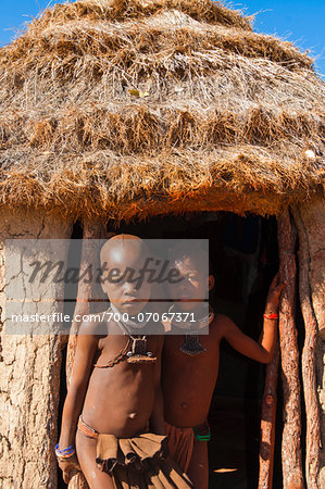 Portrait of Himba children, Kaokoveld, Namibia, Africa Stock Photo - Rights-Managed, Image code: 700-07067371