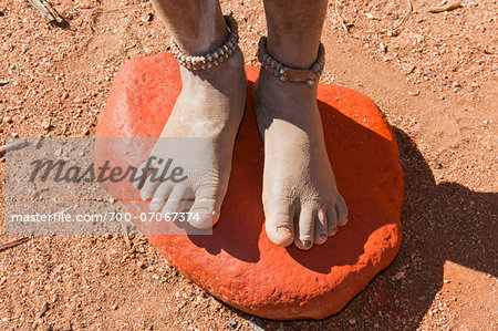 Red Ochre (or ocher stone) pigment used by Himba to create a reddish tint, Kaokoveld, Namibia, Africa Stock Photo - Rights-Managed, Image code: 700-07067374