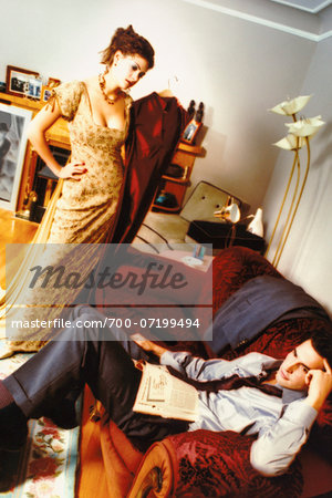 Couple Arguing in Living Room Stock Photo - Rights-Managed, Image code: 700-07199494