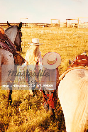 Two Girls with Horses Stock Photo - Rights-Managed, Image code: 700-07199569