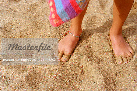 Boy's Feet in Sand on Beach Stock Photo - Rights-Managed, Image code: 700-07199593