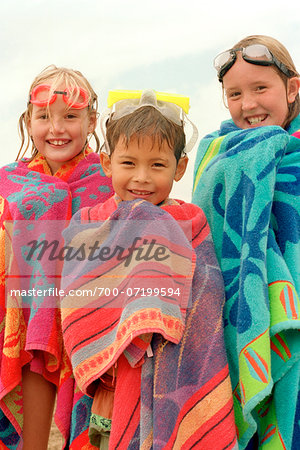 Children Wrapped in Beach Towels Stock Photo - Rights-Managed, Image code: 700-07199594