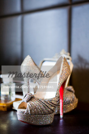 Close-up of women's open toe shoe, dress shoes, Ontario, Canada Stock Photo - Rights-Managed, Image code: 700-07199841